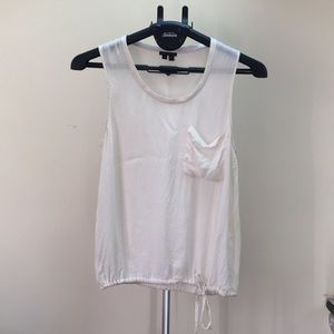 THEORY White Silk Tank